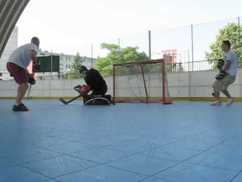Reason Y Ball Hockey Goalie Pads With Sliders Youtube