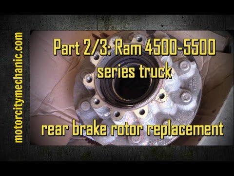 Part 2 3 Ram 4500 5500 Series Truck Rear Brake Rotor Hub Removal