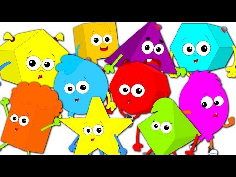 Ten Little Shapes Jumping On The Bed   Shapes Song   Nursery Rhymes Song For Kids   Baby Shapes
