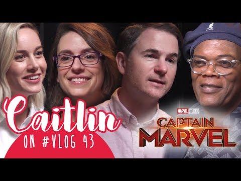 "Caitlin on #VLOG 43 - Interview Cast ""CAPTAIN MARVEL""  Brie Larson, Samuel Jackson W/ Marsha Aruan thumbnail"