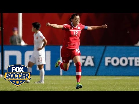 Christine Sinclair on her game-winning penalty kick against China - FIFA Women