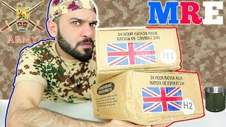 British Army HALAL And RARE MREs Review, Eating Show & Challenge [ARABIC]