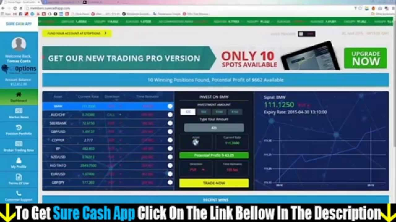 Free cash app binary options