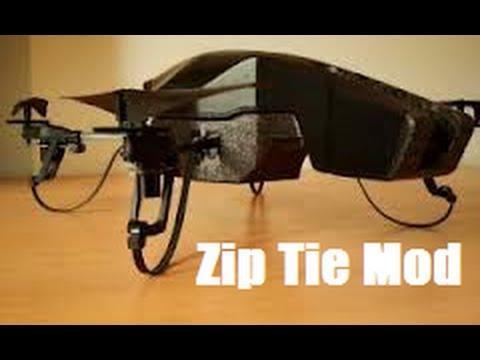 AR Drone Zip Tie Mod, Landing Gear Mod - How To - Episode 3
