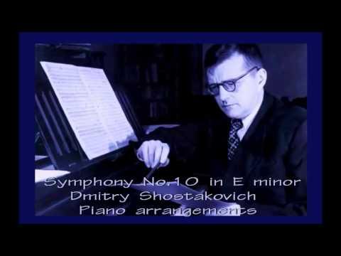 Dmitry Shostakovich - Symphony No 10 [3/4] - (Piano arrangements)