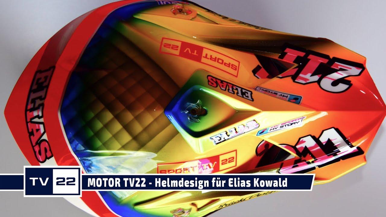 MOTOR TV22: Helmdesign by Brückl Design für Elias Kowald