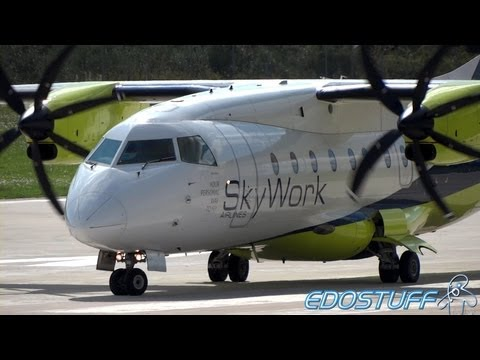SkyWork Airlines - Dornier 328-110 HB-AES - Takeoff from SPU/LDSP Split airport #2