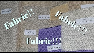 Flosstube #98 Comparing aida & evenweave & linen!!!