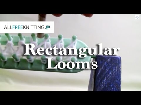 How To Loom Knit Rectangular Looms Youtube