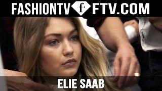 Hairstyle at Elie Saab Spring 2016 ft. Gigi Hadid & Kendall Jenner | FTV.com