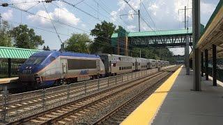 Amtrak & MARC HD 60fps: Afternoon Action @ Halethorpe Station (8/17/15)
