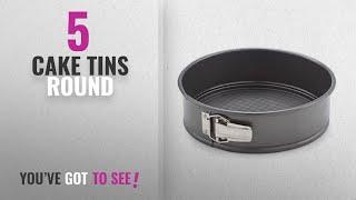Top 10 Cake Tins Round [2018]: Teflon Round Cheese Cake Mould, Black