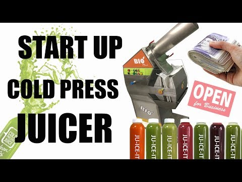 START UP COLD PRESS JUICE BUSINESS COMMERCIAL JUICER BIO MINI