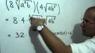 Multiplicación de radicales de diferente índice thumbnail