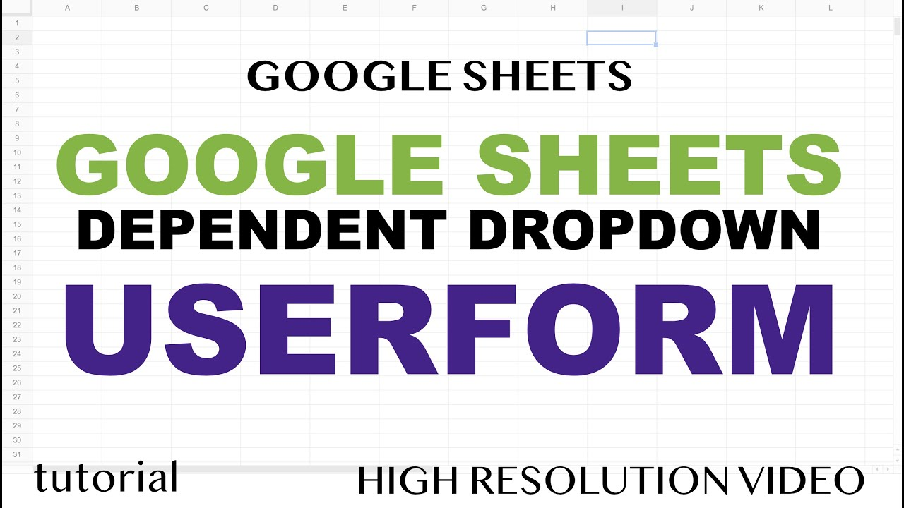 Google Sheets Userform - Dependent Dropdown in a Web App
