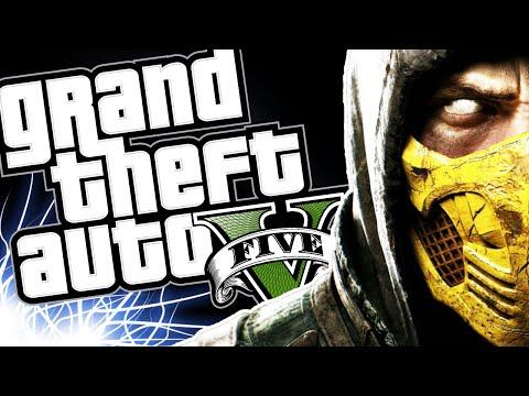 MORTAL KOMBAT MOD: SCORPION (MINI MACHINIMA + GAMEPLAY)  - GTA V PC MOD