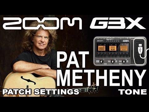 ZOOM G3 PAT METHENY tone JAZZ GUITAR PATCH G1, G5 [USB Recording].