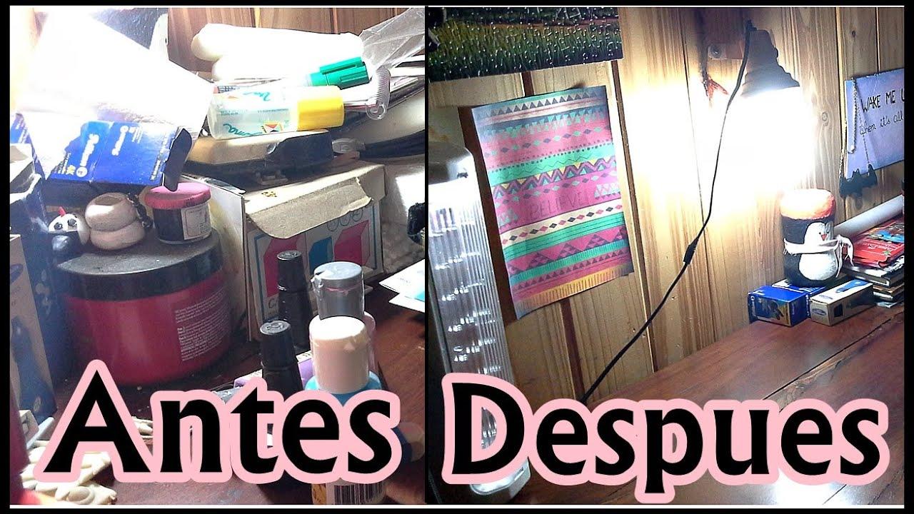 C mo organizar tu mesa de trabajo diy youtube for Como decorar mi escritorio de trabajo