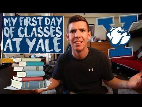 MY FIRST DAY OF CLASSES AT YALE!!!