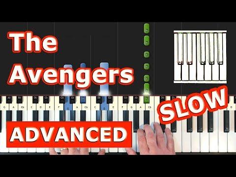 The Avengers Theme - SLOW Piano Tutorial Easy - Sheet Music (Synthesia) thumbnail