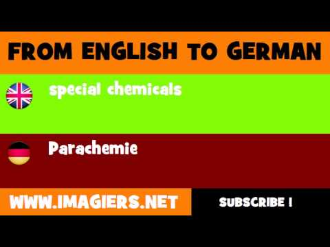FROM ENGLISH TO GERMAN = special chemicals