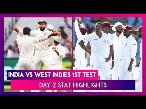 India Vs West Indies Stat Highlights, 1st Test 2019 Day 2: Ishant Sharma Takes Fab 5-Wicket Haul