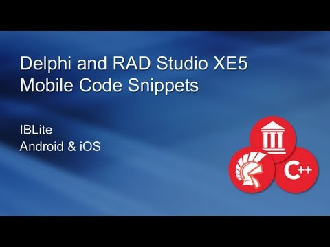 Mobile IBLite with Delphi XE5