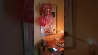 Hotel room decor for birthday