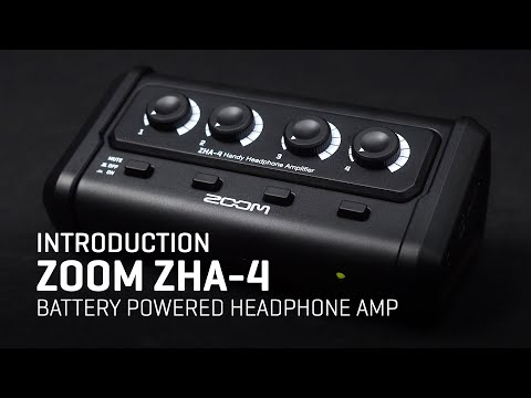 The Zoom ZHA-4 Battery Powered Headphone Amp: Overview