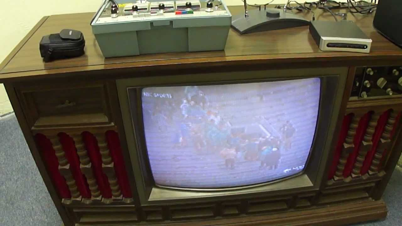 1971 Curtis Mathes Tube-type Color Tv Test
