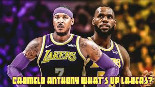 LAKERS NEED CARMELO ANTHONY NOW!!! NOT MARKIEFF MORRIS
