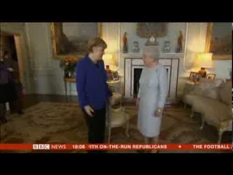 Thumbnail: Chancellor Angela Merkel treated like a queen on her visit to London