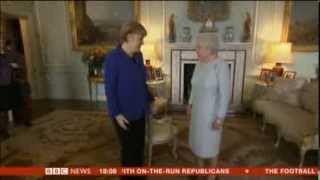 Chancellor Angela Merkel treated like a queen on her visit to London