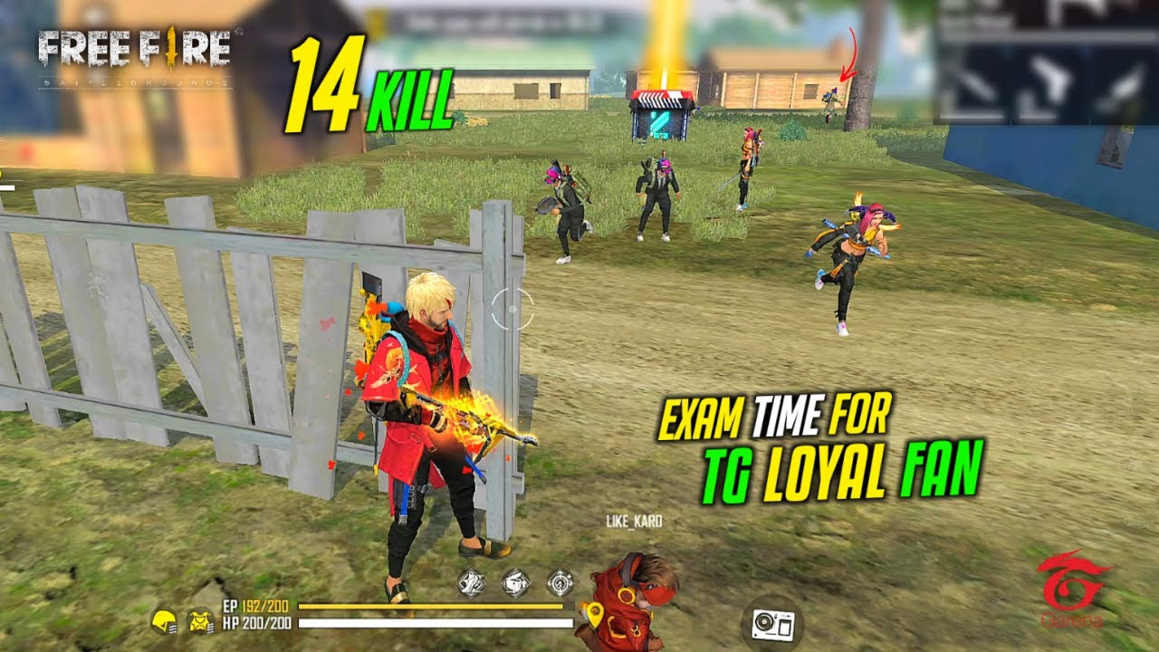 Exam Time for TG Loyal Fan Best 14 Kill Gameplay - Garena Free Fire