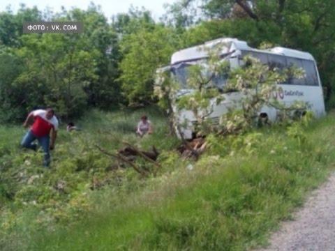 Автобус, следовавший в Вологду, столкнулся с внедорожником в Ленинградской области