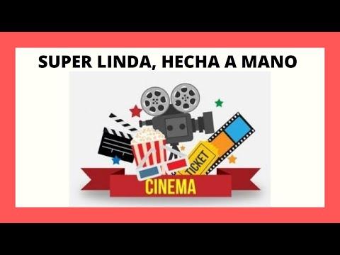 Como Hacer Tarjeta Invitación A Cine Tarjeta Original Gotitadeaguaadm