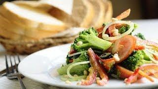 Салат с брокколи и кедровыми орехами