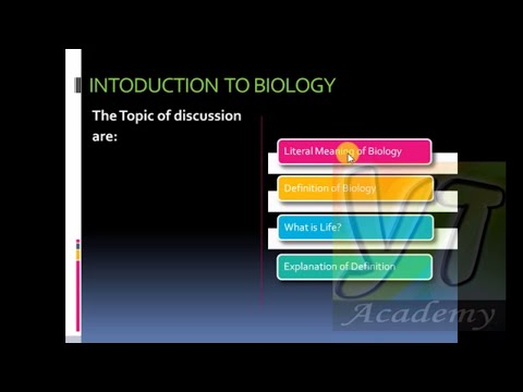 Introduction to Biology-Class 11 Urdu Hindi-Lecture 1 by YT