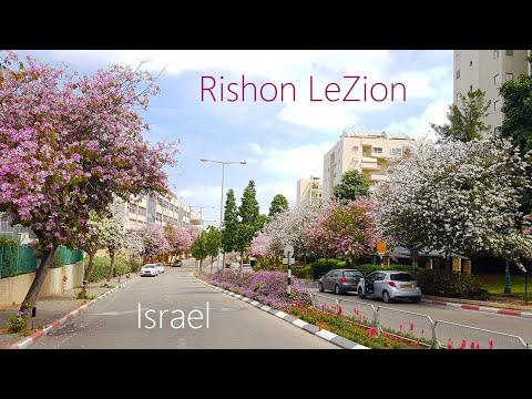 Spring - BEAUTIFUL ISRAEL, Walking In Rishon Le-Zion (Ne'urim Neighborhood)