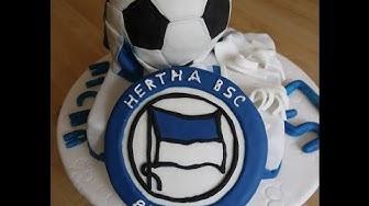 Anleitung für ein Hertha Logo aus Fondant - Motivtorte / Torten backen und dekorieren