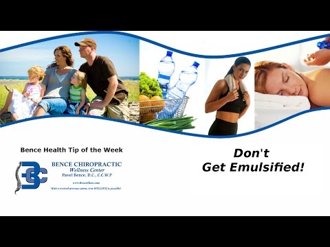 Chiropractor Sterling Heights MI-- Don't Get EMULSIFIED!