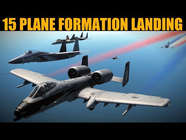 TEXTBOOK 15 Plane Formation Landing   DCS WORLD