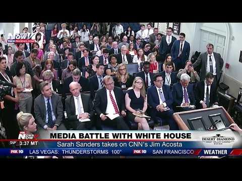 WAR OF WORDS: Sarah Sanders Spars With CNN\'s Jim Acosta At TENSE Briefing