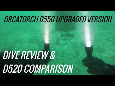 Orcatorch D550 Review Upgraded Version 1000 Lumens VS Orcatorch D520  - Shot W/ Paralenz