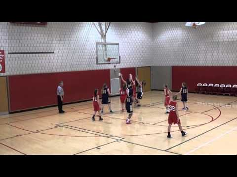 2 18 2016 Peters Township Middle School 7th Grade Girls vs Ringgold   Fourth Quarter