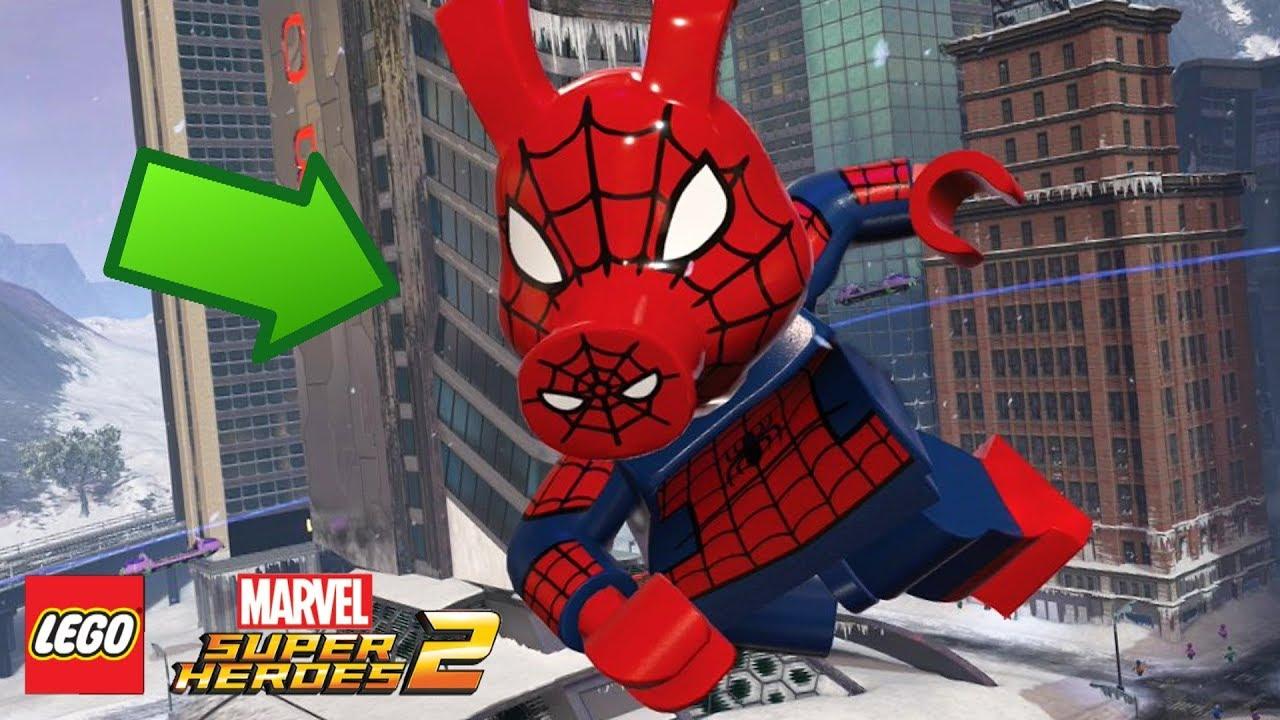 lego marvel super heroes 2 porco aranha confirmado. Black Bedroom Furniture Sets. Home Design Ideas