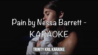 Pain by Nessa Baŗrett - acoustic KARAOKE with LYRICS   instrumental / backing track   (HIGH QUALITY)