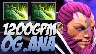 OG.Ana Anti-Mage - 1200 GPM Dota 2 7.21B Gameplay