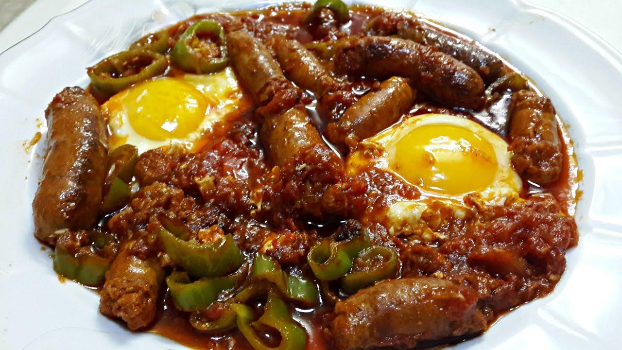 Ojja aux merguez et aux ufs cuisine tunisienne youtube for Cuisine tunisienne