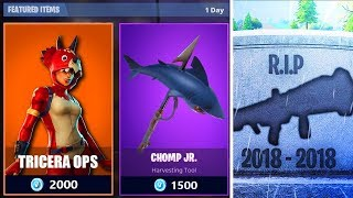 WEAPON REMOVED FROM FORTNITEA! -New skins coming tomorrow?! (Fortnite Suomi Live)